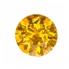 10mm Round Yellow CZ - Pack of 1