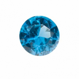 10mm Round Blue Zircon CZ - Pack of 1
