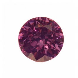 15mm Round Lavender CZ - Pack of 1