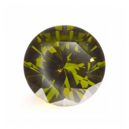 15mm Round Olive CZ - Pack of 1