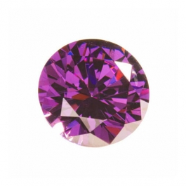 15mm Round Amethyst CZ - Pack of 1