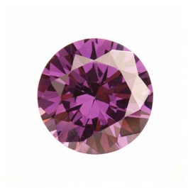 15mm Round Light Amethyst CZ - Pack of 1