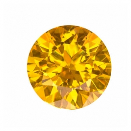 15mm Round Yellow CZ - Pack of 1