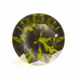 18mm Round Olive CZ - Pack of 1
