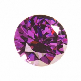 18mm Round Amethyst CZ - Pack of 1