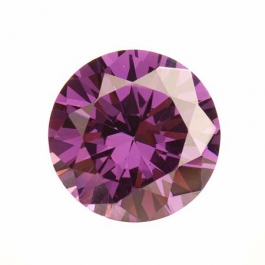 18mm Round Light Amethyst CZ - Pack of 1