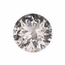 18mm Round White CZ - Pack of 1