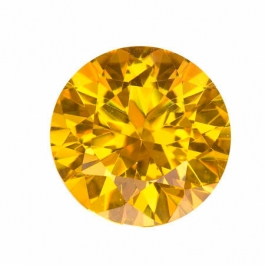 18mm Round Yellow CZ - Pack of 1
