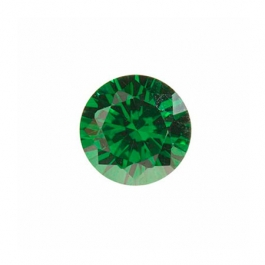 4mm Round Emerald Green CZ - Pack of 5