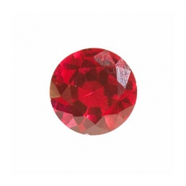 4mm Round Ruby Corundum - Pack of 5