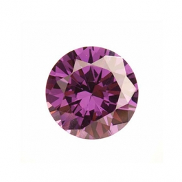 4mm Round Light Amethyst CZ - Pack of 5