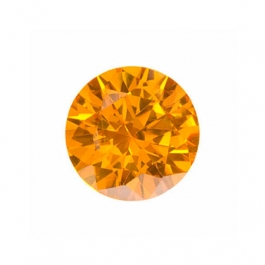 4mm Round Golden Yellow CZ - Pack of 5