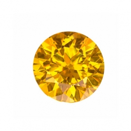 4mm Round Yellow CZ - Pack of 5