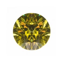 5mm Round Peridot CZ - Pack of 5
