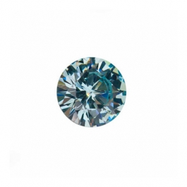 5mm Round Aquamarine CZ - Pack of 5