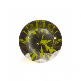 5mm Round Olive CZ - Pack of 5