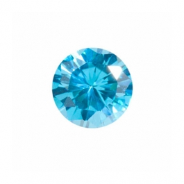 5mm Round Blue Topaz CZ - Pack of 5