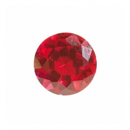 5mm Round Ruby Corundum - Pack of 5