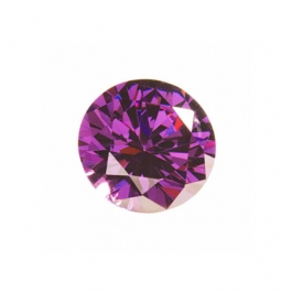 5mm Round Amethyst CZ - Pack of 5