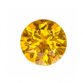 5mm Round Yellow CZ - Pack of 5