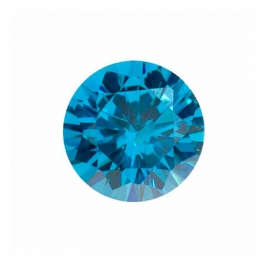 6mm Round Blue CZ - Pack of 2