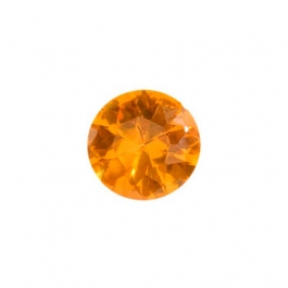6mm Round Citrine CZ - Pack of 2