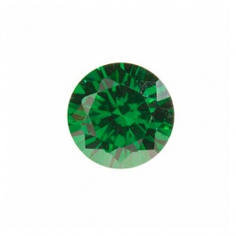 6mm Round Emerald Green CZ - Pack of 2