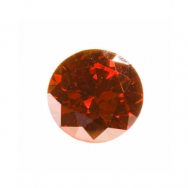 6mm Round Red CZ - Pack of 2