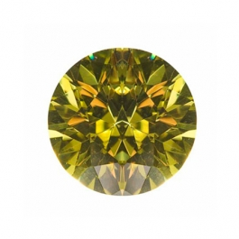 6mm Round Peridot CZ - Pack of 2