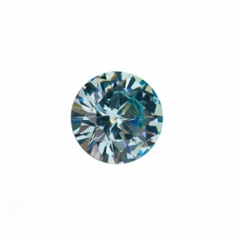 6mm Round Aquamarine CZ - Pack of 2