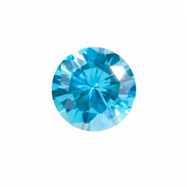 6mm Round Blue Topaz CZ - Pack of 2