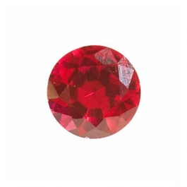 6mm Round Ruby Corundum - Pack of 2