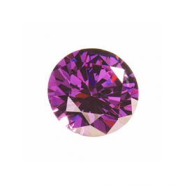 6mm Round Amethyst CZ - Pack of 2
