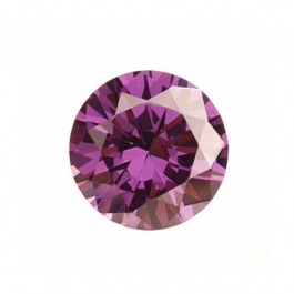 6mm Round Light Amethyst CZ - Pack of 2