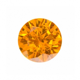6mm Round Golden Yellow CZ - Pack of 2
