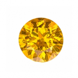 6mm Round Yellow CZ - Pack of 2