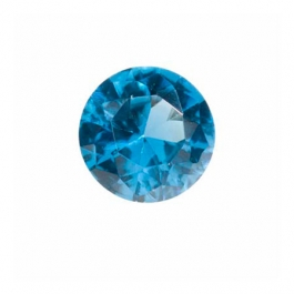 6mm Round Blue Zircon CZ - Pack of 2