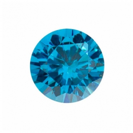 8mm Round Blue CZ - Pack of 1