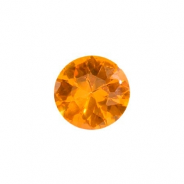 8mm Round Citrine CZ - Pack of 1