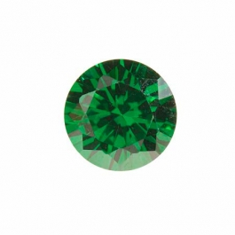8mm Round Emerald Green CZ - Pack of 1