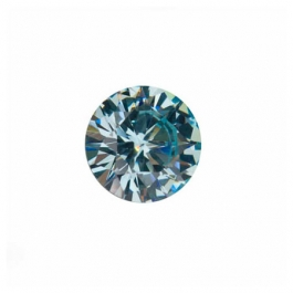 8mm Round Aquamarine CZ - Pack of 1