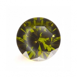 8mm Round Olive CZ - Pack of 1