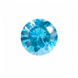 8mm Round Blue Topaz CZ - Pack of 1