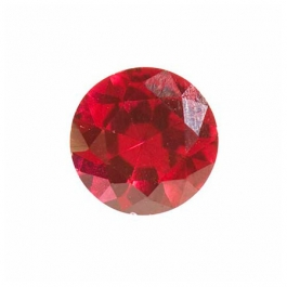 8mm Round Ruby Corundum - Pack of 1