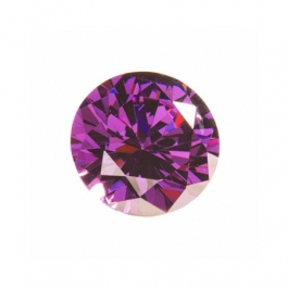 8mm Round Amethyst CZ - Pack of 1