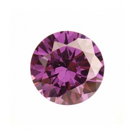8mm Round Light Amethyst CZ - Pack of 1
