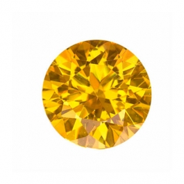 8mm Round Yellow CZ - Pack of 1