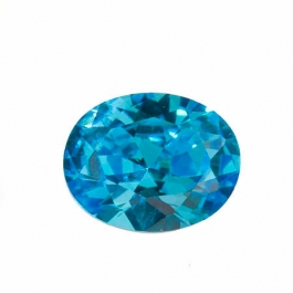 10X8mm Oval Blue CZ - Pack of 1