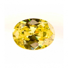10x8mm Oval Peridot CZ - Pack of 1