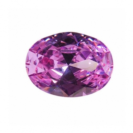 10x8mm Oval Lavender CZ - Pack of 1